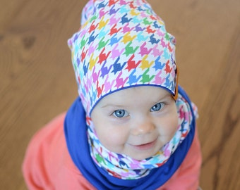 Girls Cotton Slouchy Hat, Boys Slouchy Hat, Girls Cotton Beanie, Boys Cotton Beanie, Reversible Boys Slouchy Beanie, Kids Slouchy Beanie