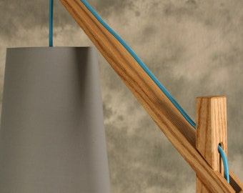 Egret Floor Lamp . Wood Japanese Joinery . Modern . Fine Craft