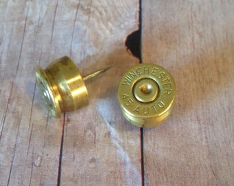 45 Caliber Bullet Push Pins, Men's gifts, Women's gifts, Unique gifts, Bullet accessories, Handmade gifts