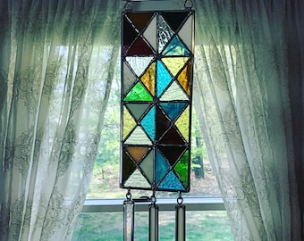Triangle Stained Glass Mobile