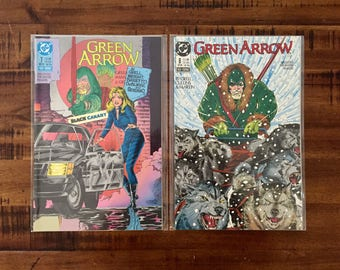 1988 Green Arrow #7 and #8 Comic Books/ NM-VF/ 1988 DC Comics/ 1st Series/ Black Canary/ Choose One or Both for a Discounted Price!!!