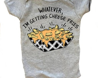 CHEESE FRIES baby bodysuit one piece baby shirt, fries baby, fries before guys bodysuit, fry yay baby shirt, funny baby, foodie baby shirt