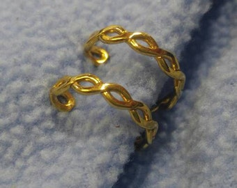 Napier Twisted Gold Hoop Adjustable Clip Earrings~ So Comfortable!