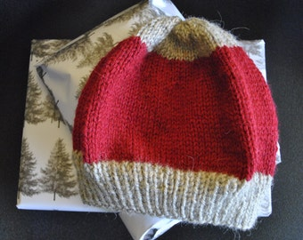 Red Beige child Hat