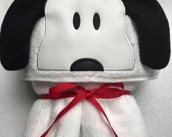 Snoopy Hooded Towel - Hooded Towel - Towel - Childs Hooded Towel - Snoopy - RedRockCraftsWy