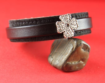3/1 SALE!! MADE in EUROPE 2 zamak cross sliders, zamak flat cord cross slider, bracelet cross(6889)Qty2