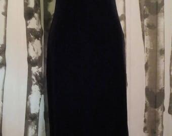 1990's Black Velvet Amanda Rose formal dress