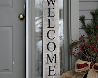 Welcome sign -- outdoor , country , vintage