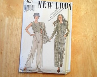 Boss New Look no. 6108, together for wife, boss sewing, jacket sleeves, pants and sleeveless top, six sizes 8 to 18