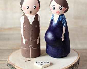 pregnant wedding cake toppers cake topper etsy 18719