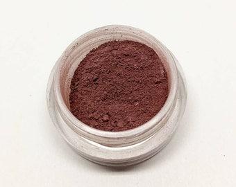 Tina - Mineral Eyeshadow - Burgundy Eyeshadow - Loose Powder - Matte and Shimmer - Half Gram - Vegan, Preservative-Free