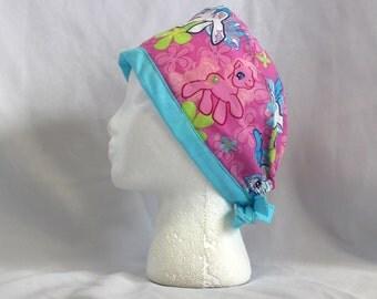 Retro My Little Pony Surgical Scrub Cap Dentist Vet Chemo Hat