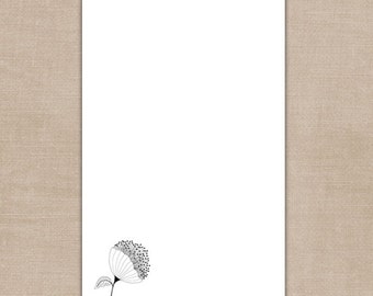 Black & White Floral Notepad