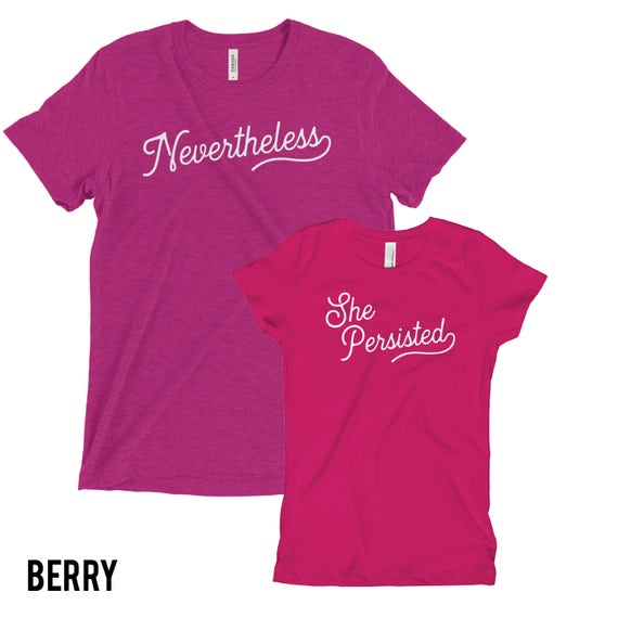 Nevertheless She Persisted | Mom and Daughter Tshirt | Mommie and Me Shirt | Femininst Girl Power