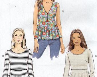 Vogue 9056 Free Us Ship Sewing Pattern High Waist Peplum Tops Blouse  New Size 6/14 14/22 Bust 30 31 32 34 36 38 40 42 44 Plus New 2014