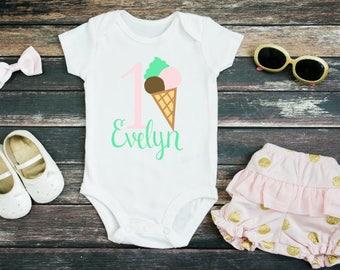 Personalized Birthday Ice Cream Bodysuit
