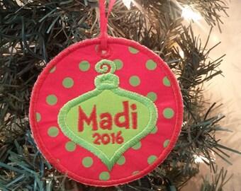 Personalized Christmas Ornament * Christmas Ornament * Custom Christmas Ornament * Christmas Decoration *Whimsical Ornament * Christmas