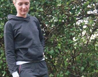 Hoodie sweatshirt sewing pattern for women|Womens PDF sewing pattern |womens pdf hoodie pattern|hoodie sweater PDF sewing pattern tutorial