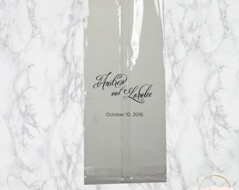 Personalized Clear Favor Bags | The Ella Wedding Collection