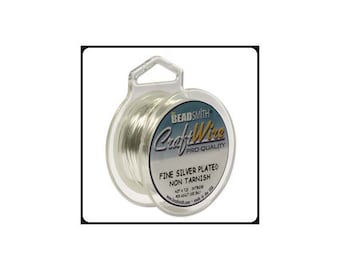 18 Gauge Silver Plated Wire by Beadsmith Craft Wire (4 Yard Spool)