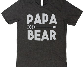 Papa Bear Shirt, Papa Bear TShirt, Papa Shirt, Papa Tshirts, Papa Gifts, Dad Gifts, Dad Birthday, Dad TShirt, Dad To Be, Bear Family Shirts
