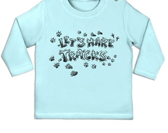 Let's Make Tracks long sleeve baby t-shirt