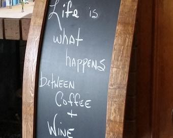 Wine Stave Chalkboard