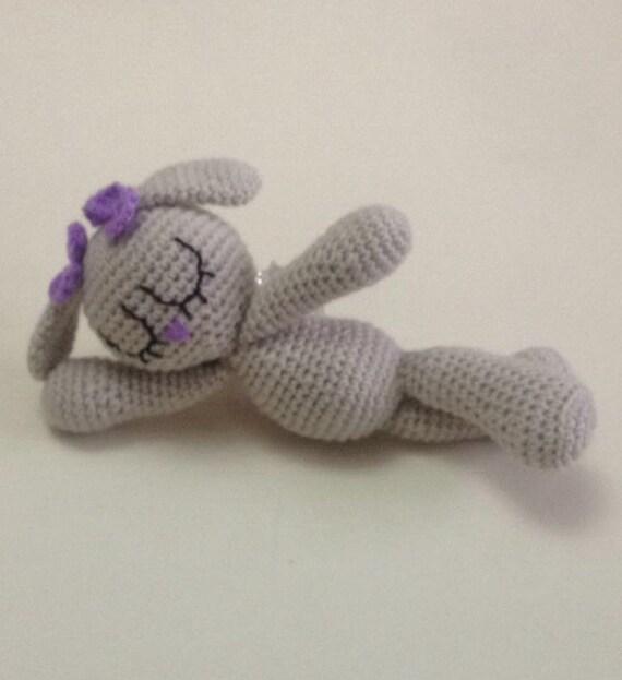 Amigurumi Sleeping Bunny : SALE Crochet Amigurumi Bunny Toy / Sleeping Friend Doll
