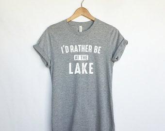 I'd Rather be at the Lake - Lake Shirts for Women - Lake Tees - Lake T-Shirts - Lake Outfits for Ladies - Women's Lake Shirts