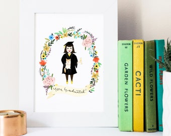 Graduation Custom Gift - Personalised Portrait - Prom, Congratulations, Daughter, Son, Best Friend, Teacher, University, School, Exams, Grad