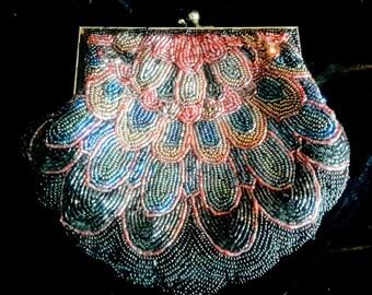 Vintage beaded handbag in excellent condition