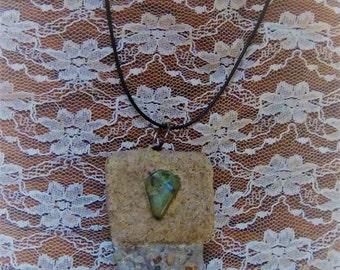 Beach Stone Sand Necklace
