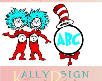 dr seuss svg files, seuss svg monogram, svg dr seuss, thing 1 svg, thing 1 and thing 2 svg, cat in the hat svg, cat in the hat monogram svg