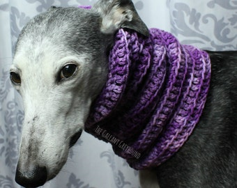 Multicolored Slouchy Neck Warmer for Greyhounds
