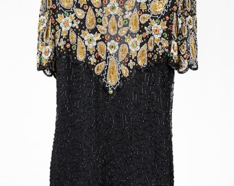Vintage Sequin Party Dress