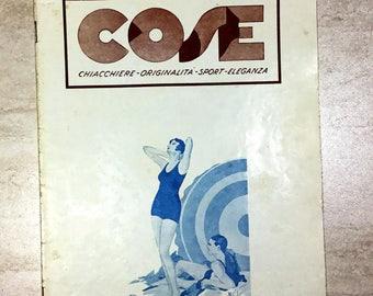 """Vintage Magazine 1932 """"Cose chiacchiere originalità sport eleganza"""""""