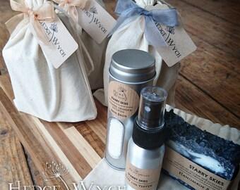 Orange, Patchouli and Lavender Spa Gift Set (Handmade Soap Set, Soap Gift Set, Natural Gift Set, Bath Gift Set)