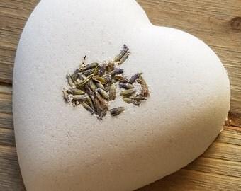 Lavender Heart Bath Bomb; Heart Bath Bomb; Lavender Bath Bomb