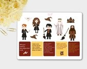 Harry Potter Stickers, Harry Potter Planner, Harry Potter Quotes, Harry Potter Sticker Kit, Wizard Stickers, ECLP