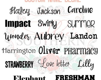 Custom name decal | Custom label decal | Name label | Personalized Vinyl Name Decal | Vinyl decal | Word sticker