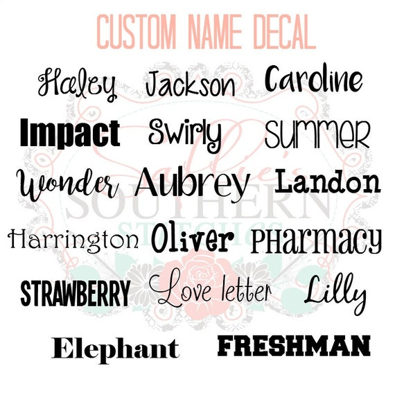 Custom Name Decal Custom Label Decal Name Label - Custom made vinyl decals