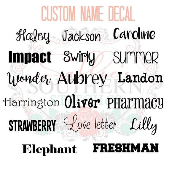 Custom Name Decal Custom Label Decal Name Label - Custom made vinyl decals