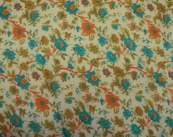"Indian Dress Fabric, Floral Print, Quilting Fabric, Home Accessories, 44"" Inch Chiffon Fabric By The Yard ZBCH123B"