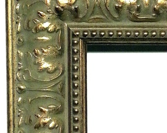 wide ornate gold picture frame baroque style antique gold wood handmade to order 5x7 8x10 11x14 16x2020x24 custom picture frames