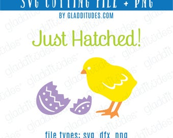 Happy Easter SVG Cutting file - Chick and Egg