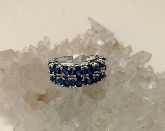 Blue Topaz Ring Size 7 1/2