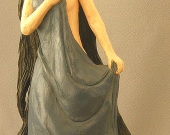 Oriental Bather. Hand carved in basswood by Russell Scott - ScottCarvings.com Female Human Figure