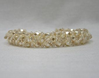 Ivory Swarovski Layer Bracelet