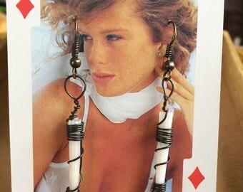 Dentallium Earrings. Summer Weirdo Collection.