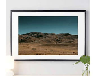Grassy Yellow Hills | nature | southern california | wall art | home decor | nature photography | countryside | photo print | 11 sizes